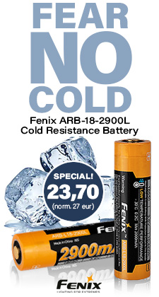 Fenix ARB-L18-2900 cold resistance rechargeable battery