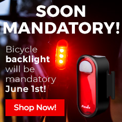 Fenix BC05R bicycle light, mandatory from June 1st 2020