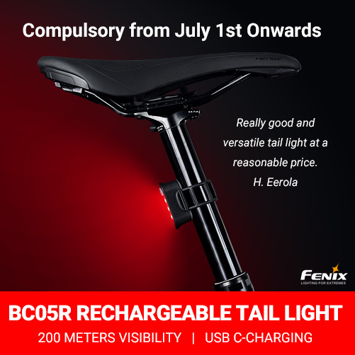 Fenix BC05R Fenix BC05R Rechargeable Bicycle Tail Light