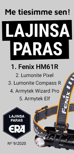 Fenix HM61R monitoimiotsalamppu, lajinsa paras, erä-lehti testimenestys