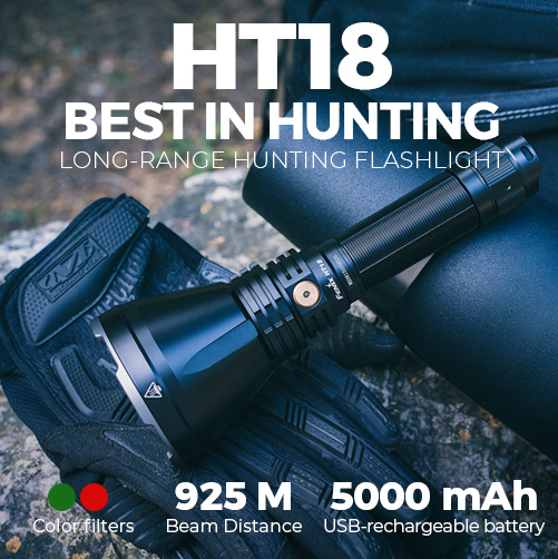 Fenix HT18 long-range hunting flashlight