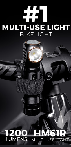 Fenix HM61R multi-use headlight, flashlight, helmet light, bicycle light