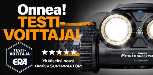 HM65R SUPERRAPTOR testivoittaja