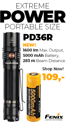 Fenix PD36R ultra high output flashlight