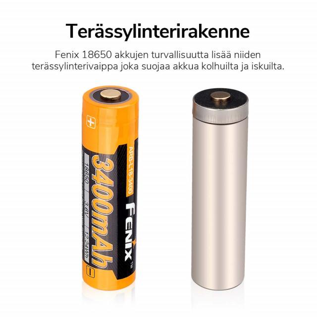 Akkuparisto Fenix ARB-L18-3400 18650