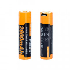 USB-rechargeable 18650 Li-ion battery