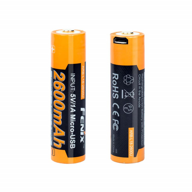 Rechargeable battery Fenix ARB-L18-2600U 18650 USB