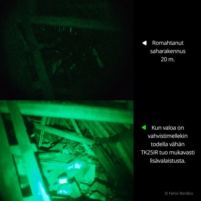 Fenix TK25IR infrapunalamppu