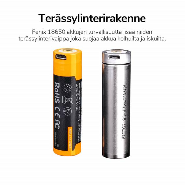 Akkuparisto Fenix ARB-L18-3500U 18650 USB