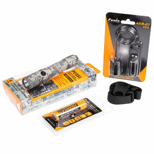 Fenix PD35 V2.0 UCP Flashlight Bundle