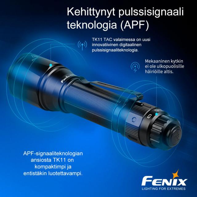 Fenix TK11 TAC taktinen käsivalaisin