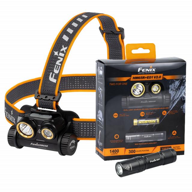 Fenix HM65R otsalamppu + E01 paketti