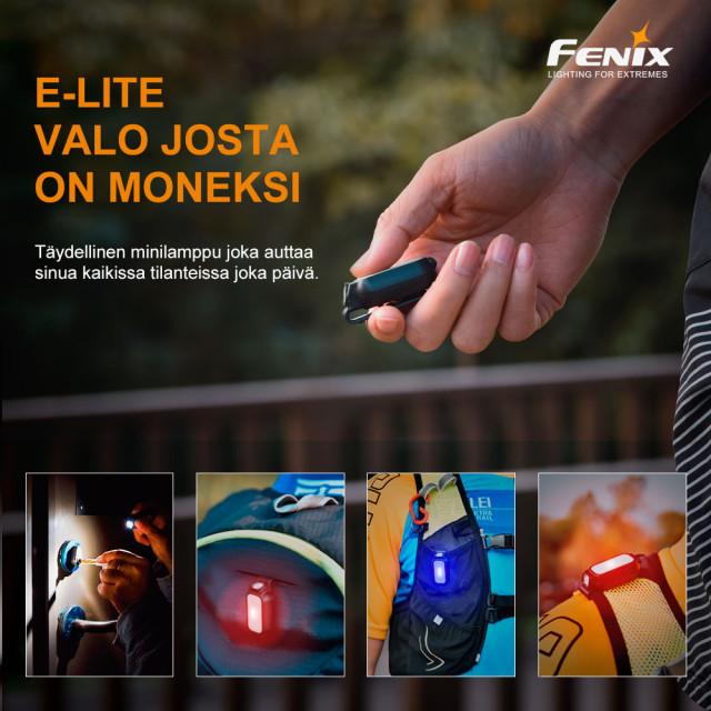Taskulamppu Fenix E-LITE, 150 lm