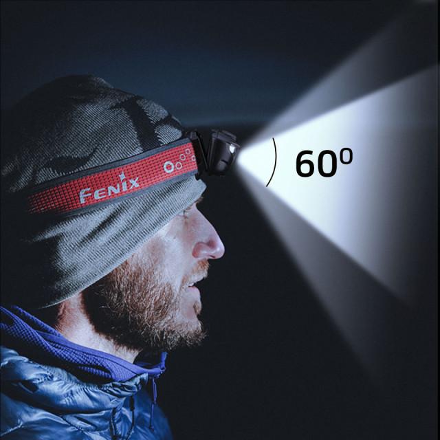 Otsalamppu polkujuoksuun Fenix HL18R-T, 500 lm