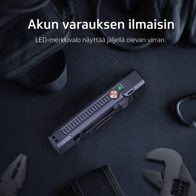 Taskulamppu / Monitoimivalaisin Fenix WF16R, 300 lm
