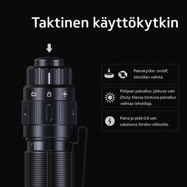 Taskulamppu Fenix PD36 TAC, 3000 lm